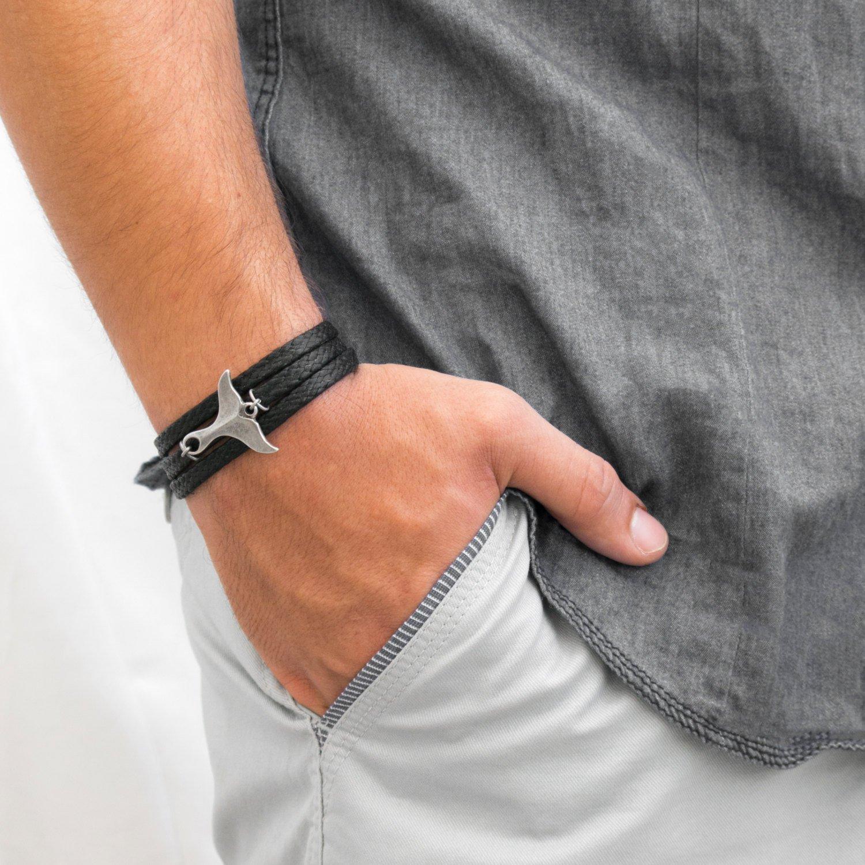 Men's Bracelet - Men's Jewelry - Men's Nautical Bracelet - Men's Vegan Bracelet - Men's Gift