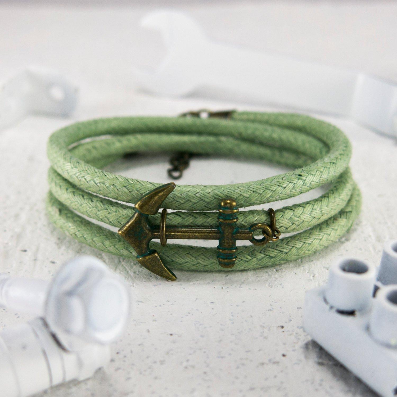 Men Bracelet - Men Jewelry - Men Nautical Bracelet - Men anchor Bracelet - Men Gift