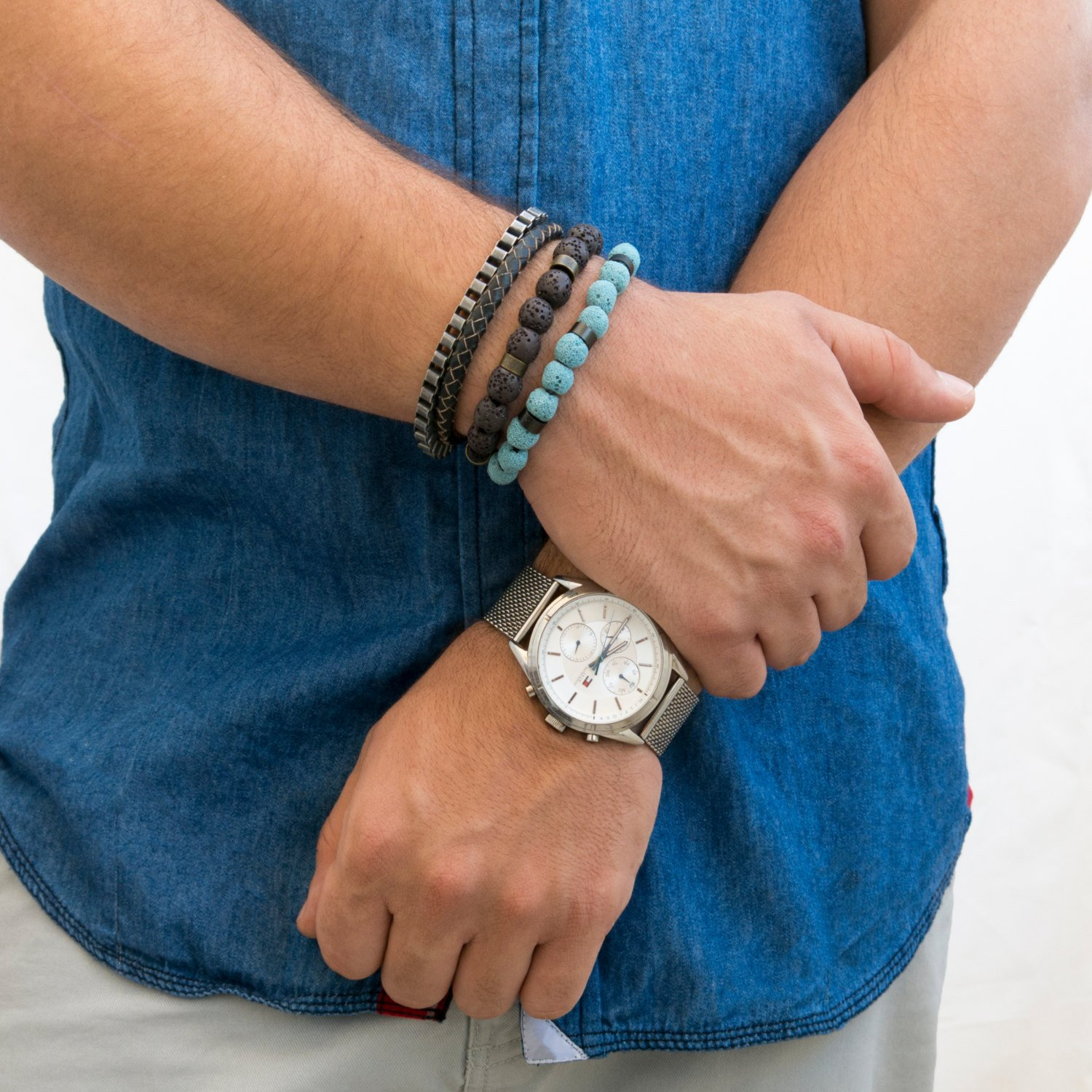Men's Bracelet Set - Set of 4 Bracelets For Men - Men's Jewelry - Men's Beaded Bracelet4