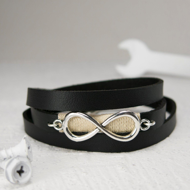 Mens Bracelet - Mens Jewelry - Mens Infinity Bracelet - Mens Vegan Bracelet - Mens Gift