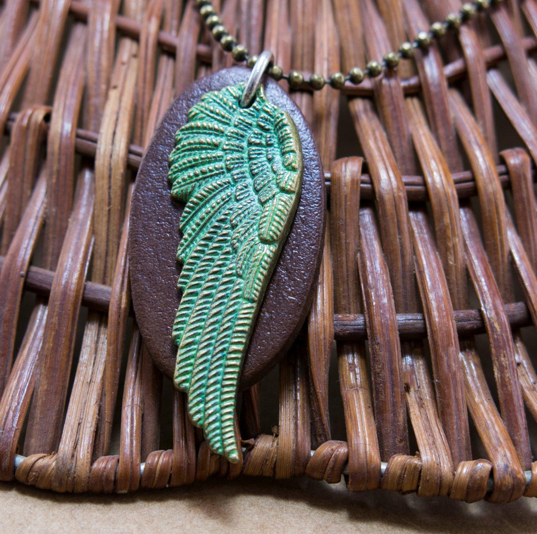 Men's Necklace - Men's Brass Necklace - Men's Leather Necklace - Men's Jewelry - Men's Gift
