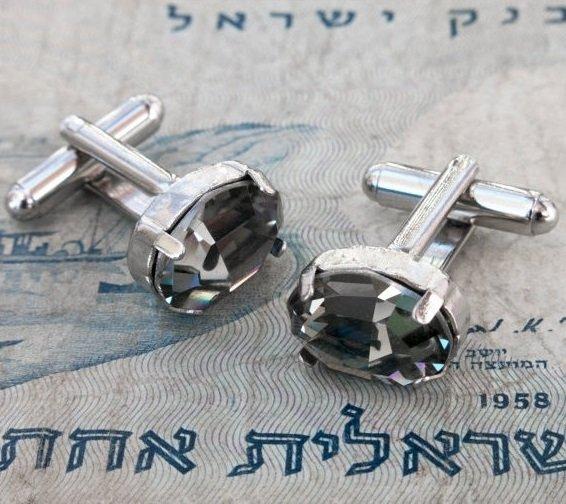 Men's Cufflinks - Men's Accessories - Crystal Cufflinks - Men's Jewelry - Men's Gift - Husband Gift
