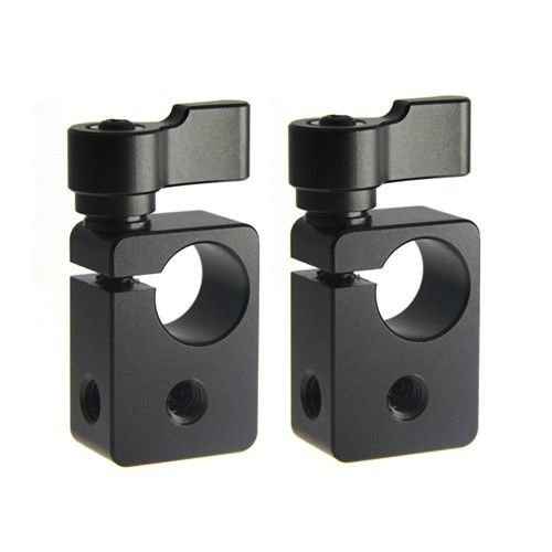 "CAMVATE 2 x 1/4"" Thread Rod Clamp Holder fr 15mm Rod Support System Led Vidoe Light"