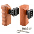 CAMVATE Wooden Handle Grips (left & right) for Panasonic GH Series