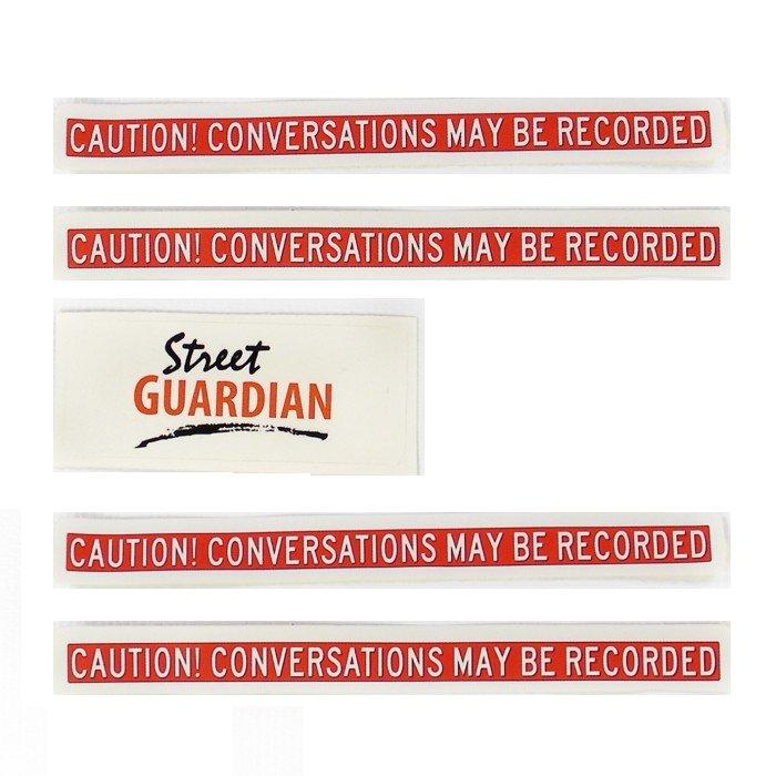 Recording Warning Stickers