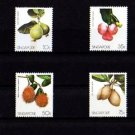 SINGAPORE - 1986 - FRUIT - INDIGENOUS - 4 X MINT SET!