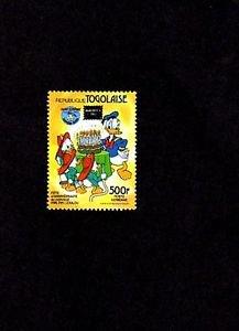 TOGO -1984 - DISNEY - DONALD DUCK - 50th ANNIV - AMERIPEX OVPT - MINT - SINGLE!