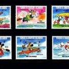 TURKS & CAICOS - 1984 - DISNEY - OLYMPICS - MICKEY - DONALD - MINT SET OF 6!
