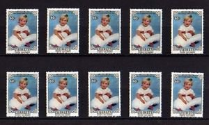 AITUTAKI - 1984 - PRINCE HENRY - BIRTH - ROYALTY - LOT of  TEN - MNH SINGLES!