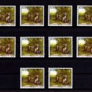 BOTSWANA - 1992 - CHEETAH - WILD CAT - AFRICA - LOT of  TEN - MNH SINGLES!