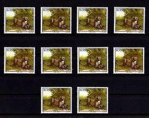 BOTSWANA - 1992 - CHEETAH - WILD CAT - AFRICA - LOT of  TEN - MNH SINGLES!