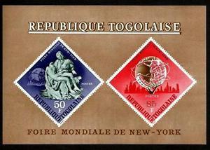 TOGO - 1965 - WORLD'S FAIR - NEW YORK - PIETA - UNISPHERE - IMPERF MNH S/SHEET!