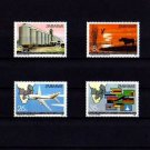 ZIMBABWE - 1986 - DEVELOPMENT CONFERENCE - AIRCRAFT + 4 X MINT SET!