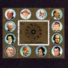 FUJEIRA - 1972 - KENNEDY - GANDHI - NAPOLEON - EDISON +++ CTO NH S/SHEET!
