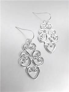 CLASSIC Brighton Bay Silver Filigree Dangle Earrings 51388