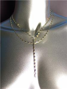 CHIC Urban Anthropologie Double Strands Gold Link Chain Long Drop Necklace