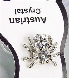 ADORABLE Sparkle Austrian Crystals SPIDER Invisible Illusion PETITE Toe Ring
