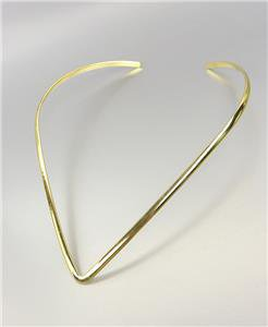 CHIC Thin Curved V Shape Gold Collar Choker Necklace