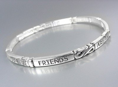 INSPIRATIONAL Friends Are Treasure Stretch Stackable Bracelet
