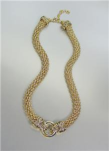 CLASSIC Brighton Bay Gold Ring Balinese Filigree Mesh Chain Necklace