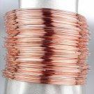 CHIC & STYLISH 44 PC Thin Rose Gold Metal PLUS SIZE Bangle Bracelets