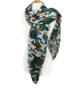 STYLISH Lightweight Silky Camo Camouflage Print Fashion Scarf