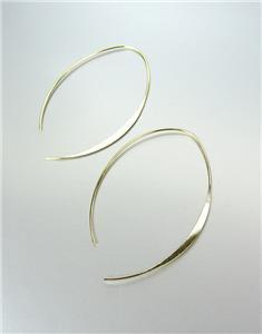 CHIC Urban Anthropologie Lightweight Thin Gold Metal Flat Threader Earrings