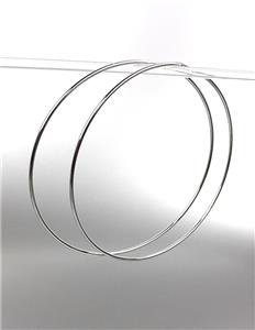 """CHIC Lightweight Silver Continuous INFINITY 3"""" Diameter Hoop Earrings 5091542"""