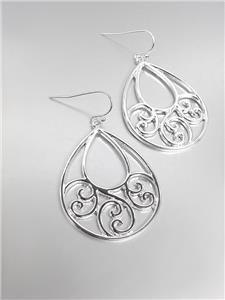 CLASSIC Brighton Bay Silver Filigree Dangle Earrings 51386