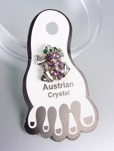 Sparkle Lavender Austrian Crystals FROG Invisible PETITE Toe Ring