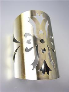 CHIC & UNIQUE Satin Antique Gold Metal Etched Filigree Long Cuff Bracelet