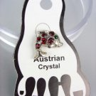 ADORABLE Red Austrian Crystal DOLPHIN Invisible PETITE Toe Ring