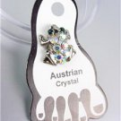 ADORABLE Sparkle Iridescent Austrian Crystals FROG Invisible PETITE Toe Ring