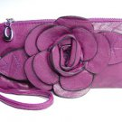 Chic Rich Purple Flower Clutch Bag Purse