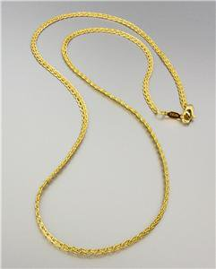 18 kt Gold EP Plated 18 Inch Weave Style Chain Necklace