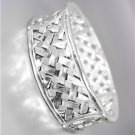 CLASSIC Brighton Bay Silver BALINESE Lattice Weave Links Stretch Bracelet