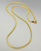 CLASSIC 18 kt Gold EP Plated 18 Inch Weave Chain Necklace