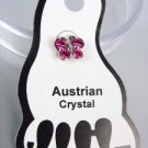 ADORABLE Pink Austrian Crystal BUTTERFLY Invisible PETITE Toe Ring