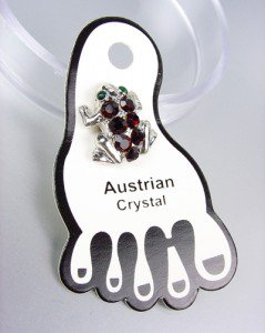 Sparkle Garnet Red Austrian Crystals FROG Invisible PETITE Toe Ring