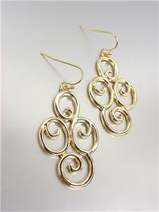 CLASSIC Brighton Bay Gold Filigree Dangle Earrings 51396