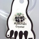ADORABLE Black Austrian Crystal LADYBUG Lady Bug Invisible PETITE Toe Ring