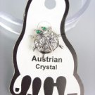 ADORABLE Clear Austrian Crystal LADYBUG Lady Bug Invisible PETITE Toe Ring