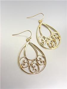 CLASSIC Brighton Bay Gold Filigree Dangle Earrings 51385