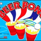 BEER PONG FLAG, 3'x5' cloth poster banner FLAG