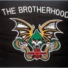 The Brotherhood Biker FLAG, 3'x5' cloth poster banner Harley FLAG