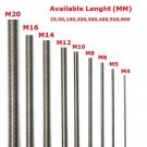 Round Head A2 Stainless Steel 304 Fully Threaded Rod/Bar/Studs M4-100mm To 500mm