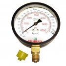 "Set Of 5 New Pressure Gauge - Dual Scale 0 - 400 Bar & 0 - 6000 Psi - 3/8"" Bsp"