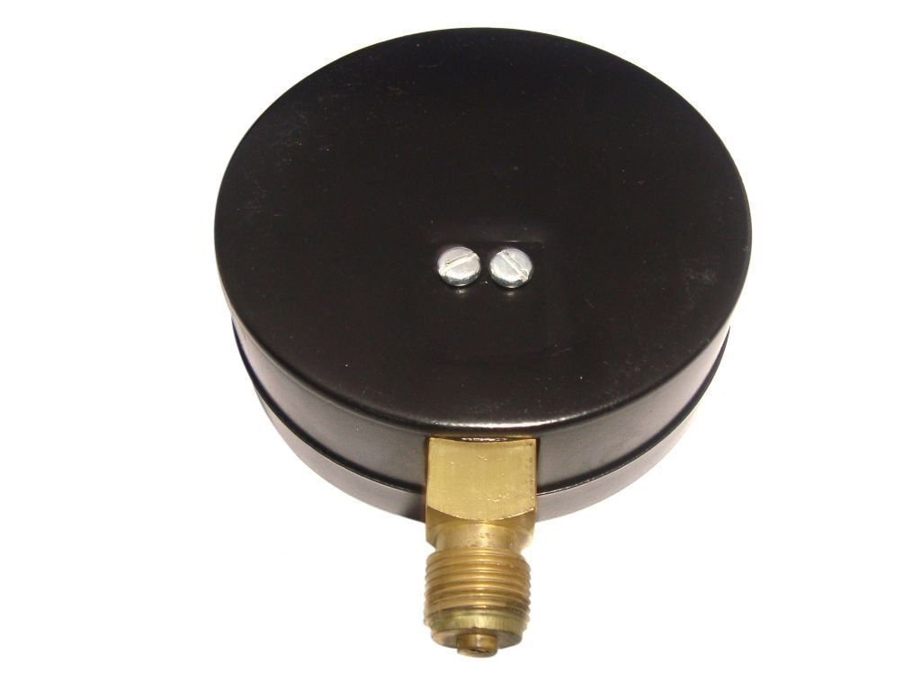 Air Pressure Gauges 4 Inch Diameter Bottom Entry ABS and Brass, up to 3/8 BSP