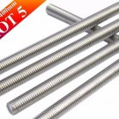 Lot of 5 Pieces A2 Stainless Steel 304 Fully Threaded Rod/Bar/Studs -M6 x 400mm