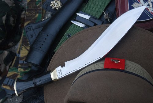 British Gurkha Service No.1 Kukri, EGKH Hand Forged Khukuri Blade, Nepal Knife